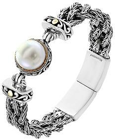 A pearl & silver bracelet. Shop fine jewelry bracelets.