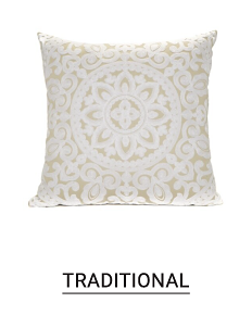 A white & beige patterned print throw pillow. Shop traditional.