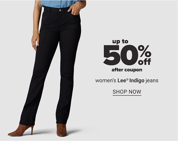 Up to 50% off (After Coupon) Women's Lee Indigo Jeans - Shop Now