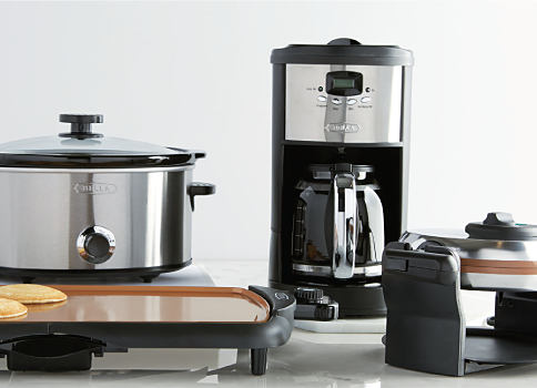 A crock pot, a coffee maker & an electric gridddle. Small appliances. Shop now.