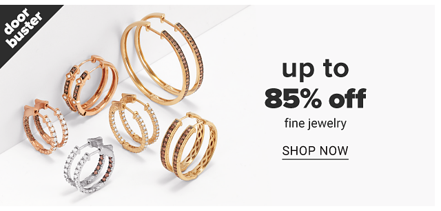 An assortment of gold & diamond earrings & silver & diamond earrings. Doorbuster. Up to 85% off fine jewelry. Shop now.