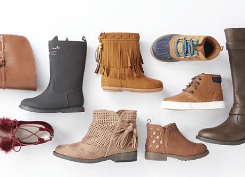 An assortment of kids' boots & shoes. Shoes. Shop now.