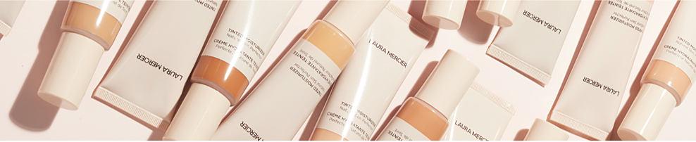 An assortment of Laura Mercier beauty products