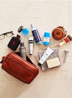 An assortment of men's grooming products. Shop men's grooming.