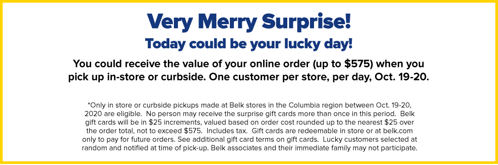 Very Merry Surprise! Today could be your luck Day!