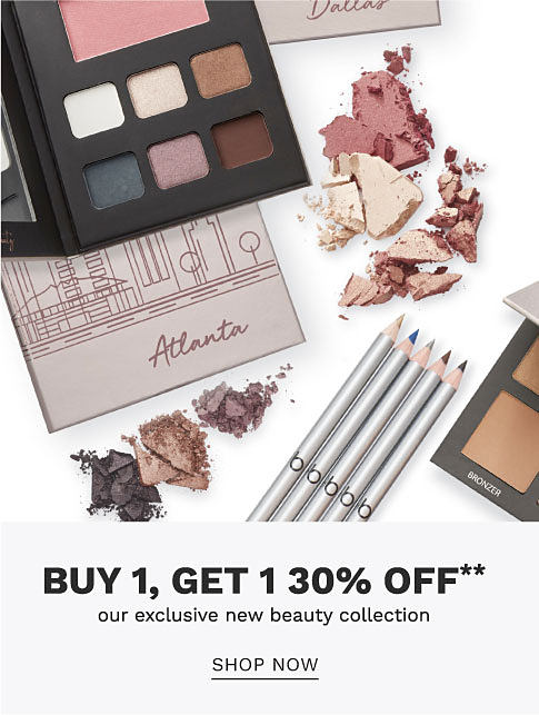 A variety of Belk Beauty makeup products. Buy 1, get 1 30% off our exclusive new beauty collection. Shop now.