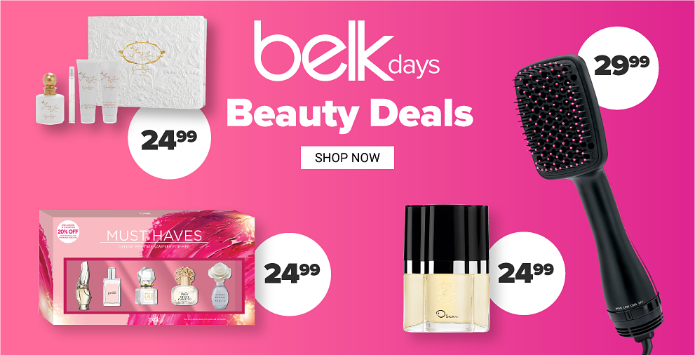 A perfume gift set. A black hair brush. Belk Days Beauty Deals. $24.99 Shop now.