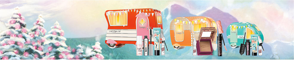 An assortment of beauty products.