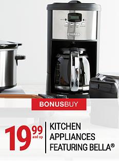 A crock pot, a coffee maker & a griddle. Bonus Buy. 19.99 & up small appliances featuring Bella. Shop now.