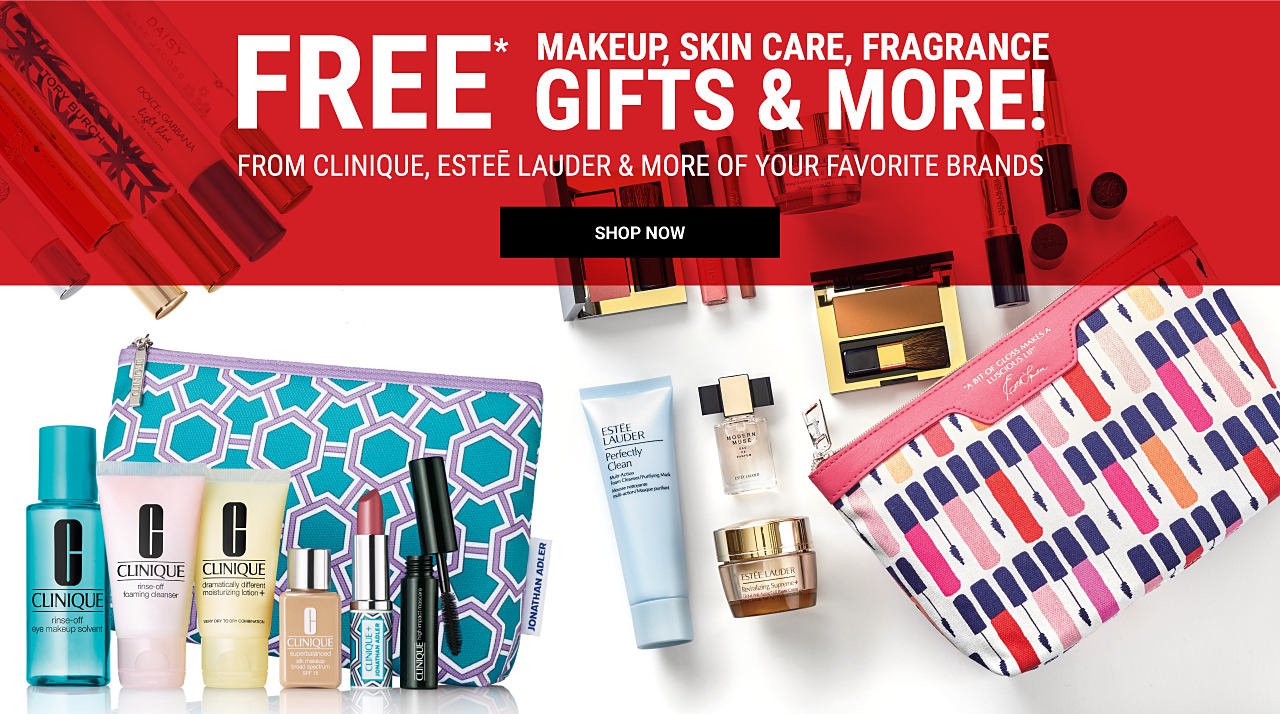 An assortment of Clinique beauty products. Free makeup, skin care, fragrance gifts & more from Clinique, Estee Lauder & more. Shop now.