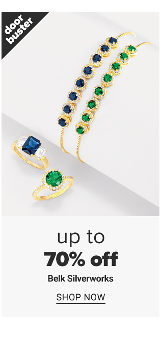 An assortment of gold tone & colored gem stone rings and bracelets. Doorbuster. Up to 70% off Belk Silverworks. Shop now