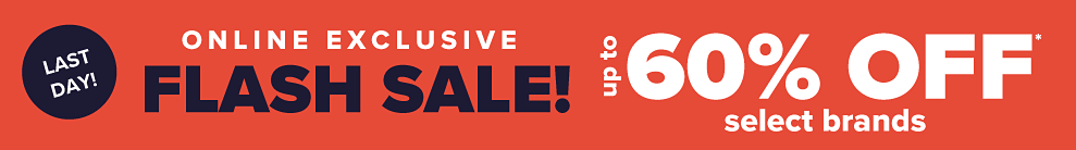 60% off Select brands.
