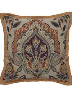 A multi-colored patterned throw pillow. Shop throw pillows.