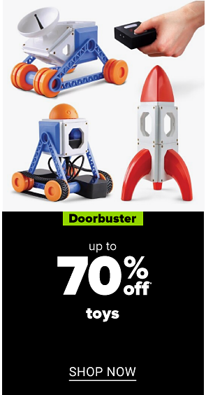 A variety of kids' toys. Doorbuster. Up to 70% off toys. Shop now.