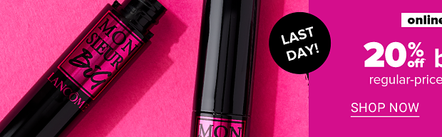 Tubes of mascara. Online only. Ends Oct 18th. 20% off beauty, regular priced purchases. Shop now. Get coupon.
