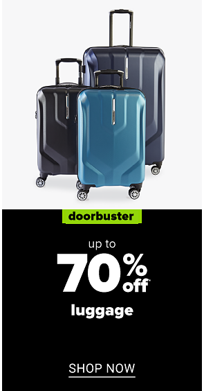 Three hardside rolling suitcases. Doorbuster. Up to 70% off luggage. Shop now.