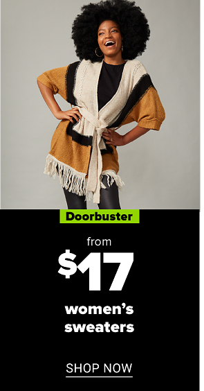 A woman's sweater. Doorbuster. From $25 women's sweaters. Shop now.