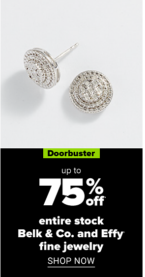 Jewelry. Doorbuster. Up to 80% off fine jewelry clearance. Shop now.