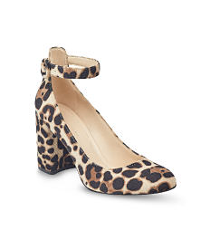 A leopard print heel. Shop heels.
