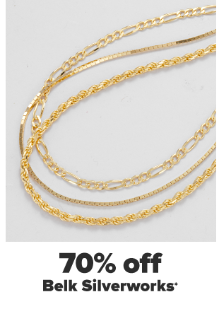 Two gold chain necklaces. Two gold pendant necklaces. 70% off Belk Silverworks.