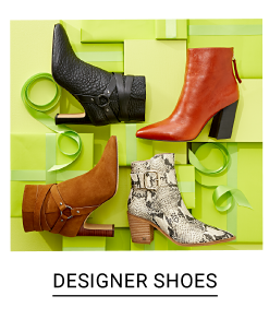 An assortment of women's boots in a variety of colors, prints & styles. Dhop designer shoes.