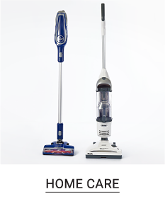 Two different styles of vacuum cleaners. Shop home care.