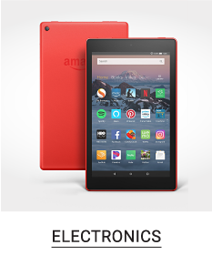A tablet in front a of a red tablet case. Shop electronics.