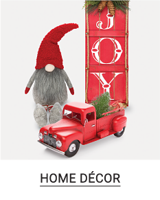 An assortment of holiday themed home decor pieces. Shop home decor.