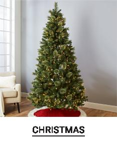A Christmas tree. Shop Christmas.