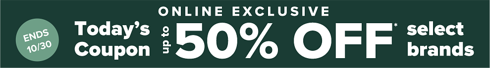 50% off Select brands