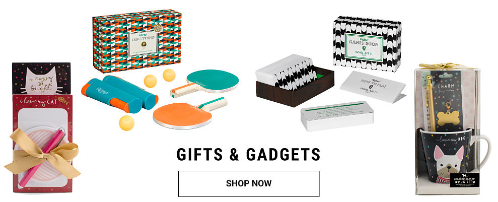An assortment of stationery gifts & games. Gifts & Gadgets. Shop now.