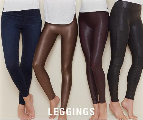 4 women wearing various colors of leggings. Leggings. Shop now.