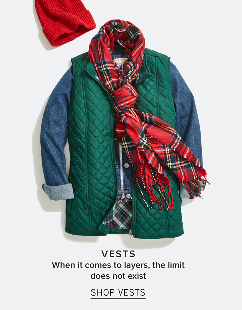 Vests. When it comes to layers, the limit does not exist. Shop Vests.