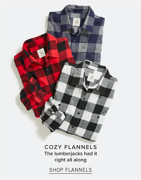 Cozy Flannels. The lumberjacks had it right all along. Shop Flannels.