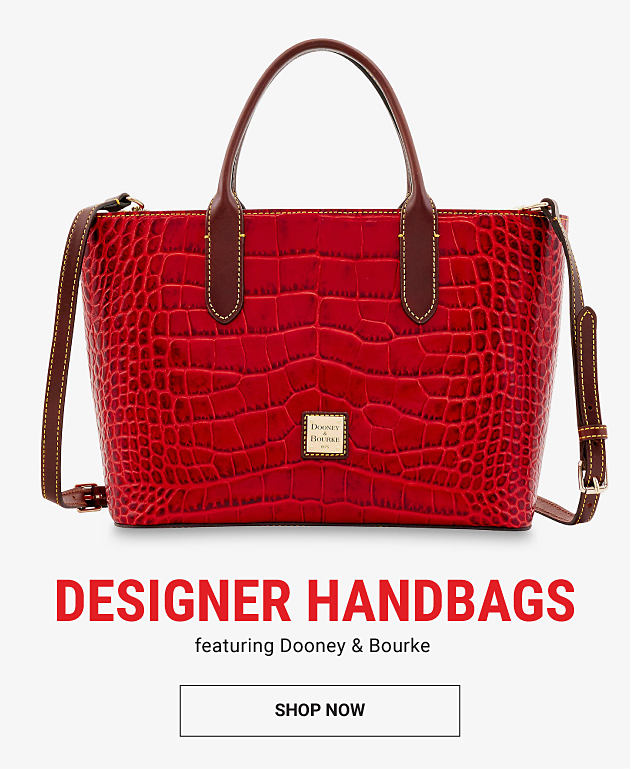 A red croco leather handbag. Designer handbags featuring Dooney & Bourke. Shop now.
