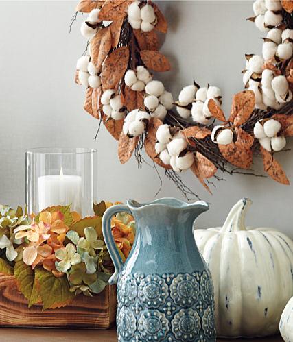 An assortment of fall-themed decor.