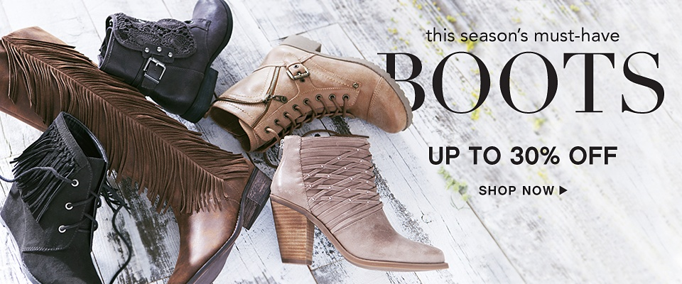 This season's must-haves Boots - Up to 30% off - Shop Now