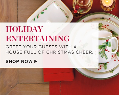 Holiday Entertaining - Greet your guest with a house full of Christmas cheer. - Shop Now