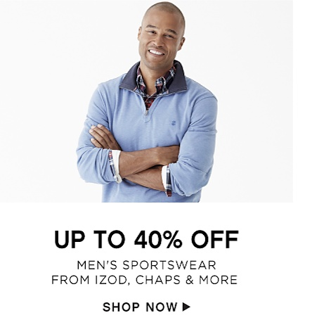 Up to 40% off Men's Sportswear from IZOD, Chaps & More - Shop Now