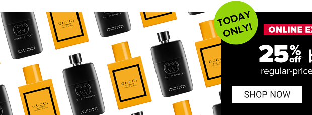 Fragrance bottles. Today only! Onlne exclusive. 25% off beauty, regular priced purchases. Shop now. Get coupon.