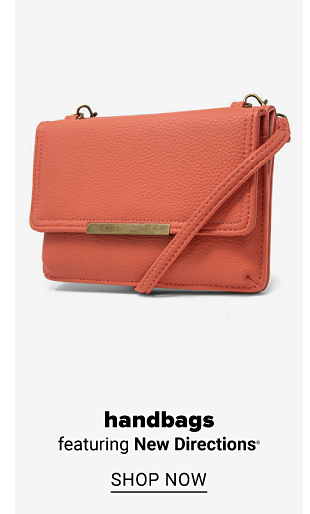 An orange hand bag. Handbags featuring New Directions. Shop now.