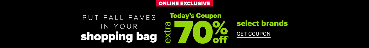 A woman in a navy sweater. Online exclusive. Put fall faves in your shopping bag. Today's coupon. Extra 70% off select brands. Get coupon. Women's Belk exclusives featuring Kim Rogers. Shop women. Shop women's plus.