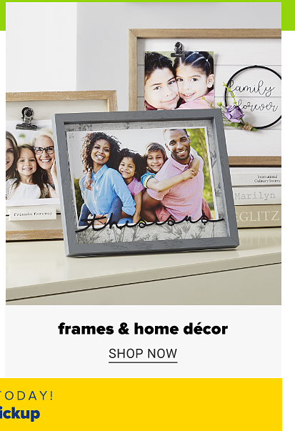 Three picture frames. Frames and home decor. Shop now.
