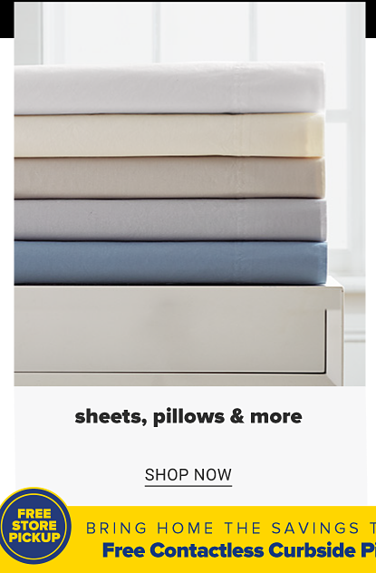 A stack of folded sheets in a variety of colors. Sheets, pillows and more. Shop now.