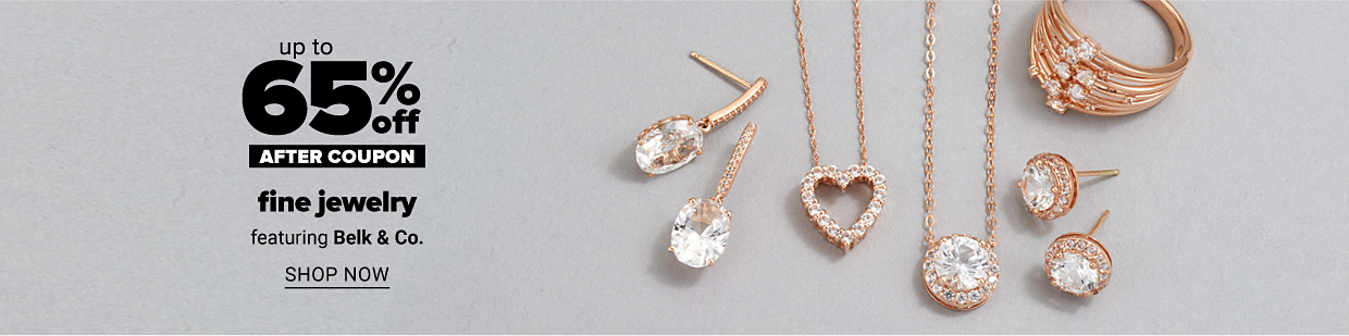 A variety of rose gold diamond jewelry. Online exclusive. Up to 65% off, after coupon, fine jewelry, featuring Belk and Co. Shop now.