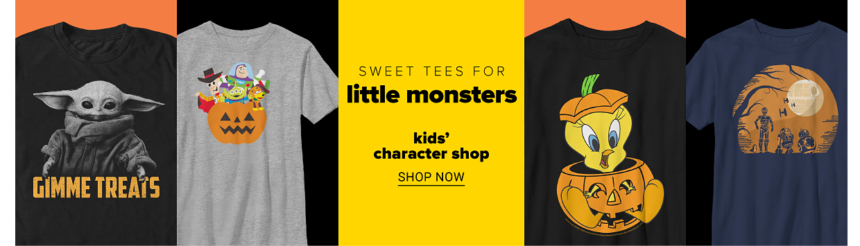 A variety of kids' graphic tees. Sweet tees for little monsters. Kids' character shop. Shop now.