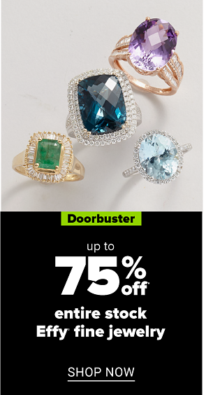 A variety of rings featuring different gems and styles. Doorbuster. Up to 75% off entire stock Belk and Co. and Effy fine jewelry. Shop now.