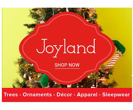 A decorated Christmas Tree. Joyland. Shop now.