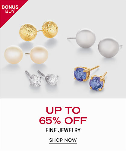 An assortment of fine jewelry earrings in a variety of colors & styles. Bonus Buy. Up to 65% off fine jewelry. Shop now.