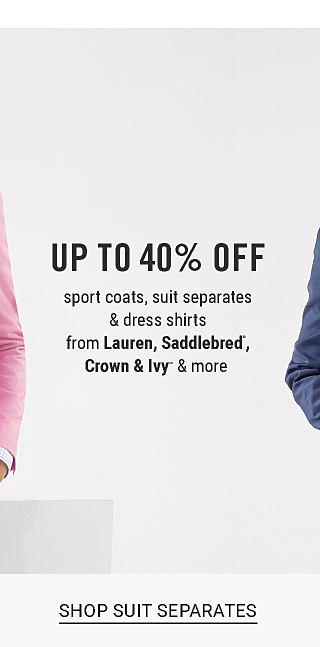 Shop suit separates.
